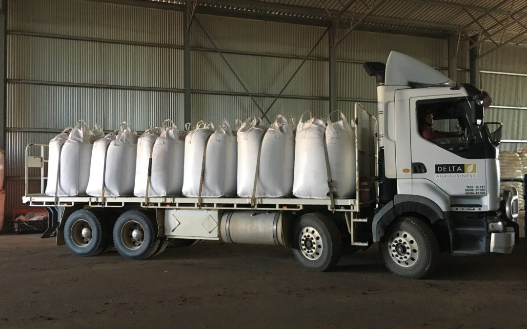 Another delivery of quality stockfeed to Caroona